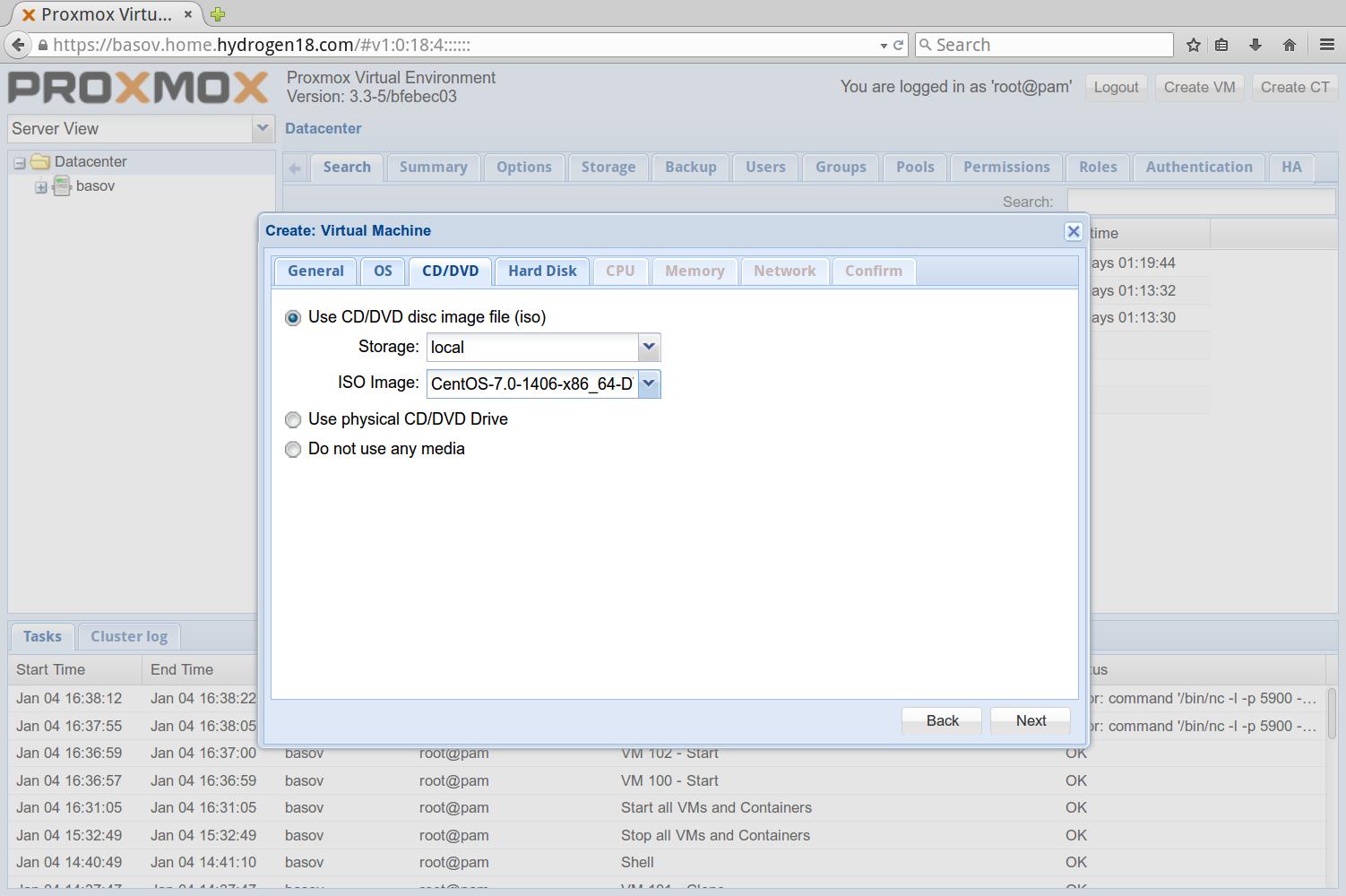Proxmox as a home virtualization solution – Log@X X B